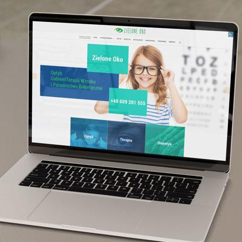 Strona internetowa dla pracowni okulistycznej