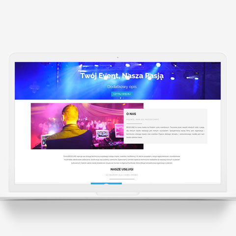 Strona internetowa agencji BigSound
